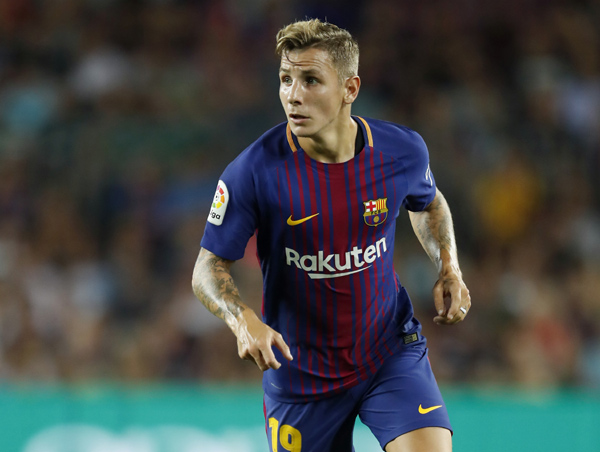 Lucas Digne, lateral del FC Barcelona (Getty Images).