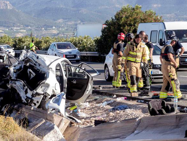 Accidente en Cieza (EFE)