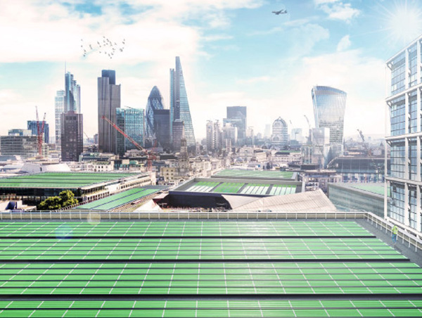 Skyline de Londres con BioSolar Leaf