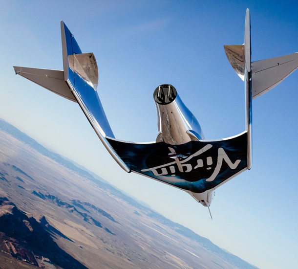 SpaceshipTwo, estandarte de Virgin Galactic