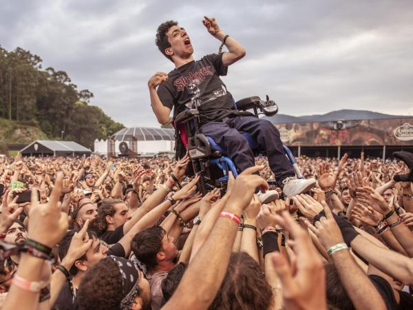 Álex en el Resurrection Fest