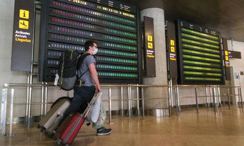 Arrival In Valencia Of The First International Flight Since The State Of Alert Was Decreed
