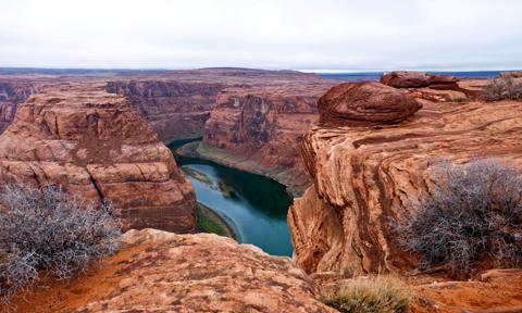 USA. Arizona. Page. Glen Canyon Recreation Area. the Horseshoe Bend