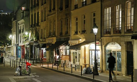 Ambiance In Paris' Streets After French President Emmanuel Macron Announced Night-time Curfew From 9pm To 6am To Contain The Spread Of COVID-19 In Major Cities