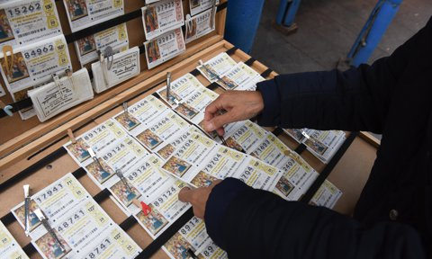 A vendor of tickets of 'El Gordo' Christmas lottery seen in