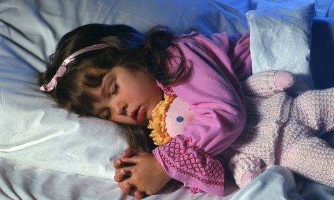 Sleeping Girl With Doll